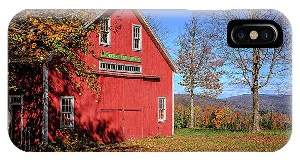 New England Barn iPhone Case - Deerefield Farm Grafton New Hampshire by Edward Fielding