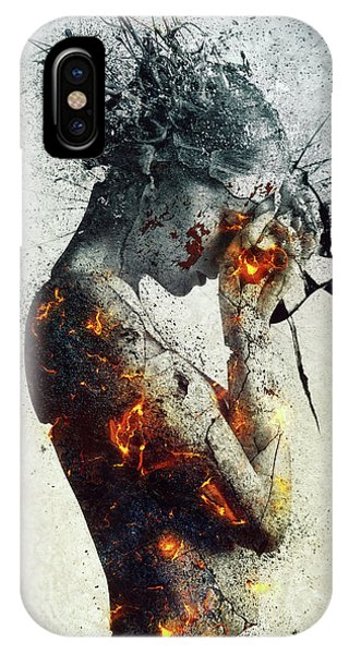 Nudes iPhone X Case - Deliberation by Mario Sanchez Nevado