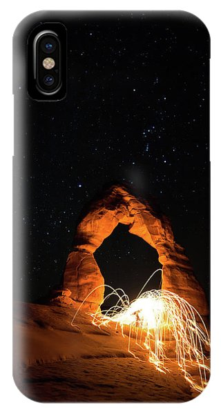 IPhone Case featuring the photograph Delicate Arch Steel Wool by Nathan Bush