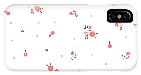 Small iPhone Case - Delicate Floral Background. Pink, Small by Ptaha I