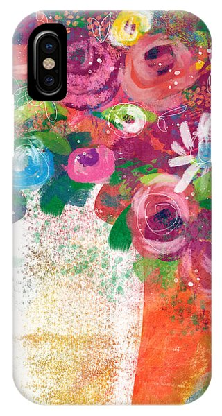 Bouquet iPhone Case - Delightful Bouquet 2- Art By Linda Woods by Linda Woods