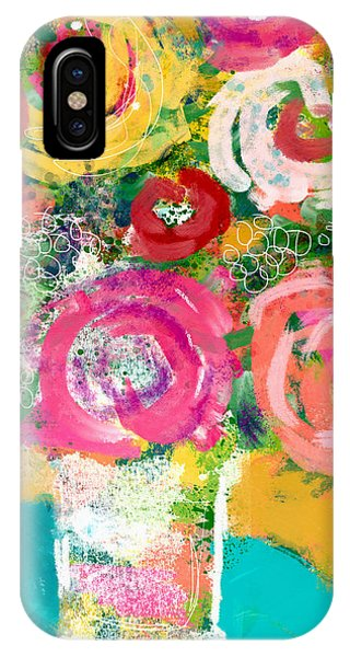 Floral iPhone Case - Delightful Bouquet 4- Art By Linda Woods by Linda Woods