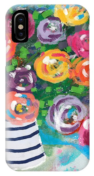 Floral iPhone Case - Delightful Bouquet 6- Art By Linda Woods by Linda Woods
