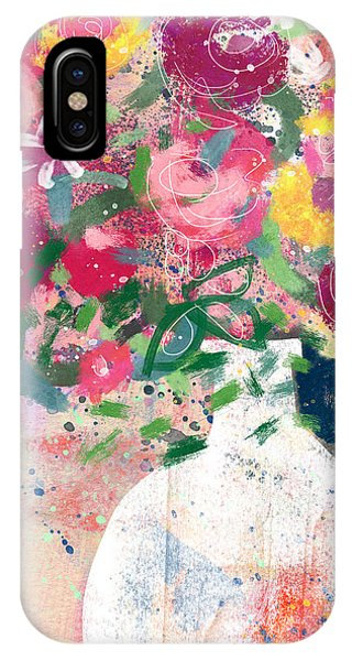 Pink iPhone Case - Delightful Bouquet- Art By Linda Woods by Linda Woods