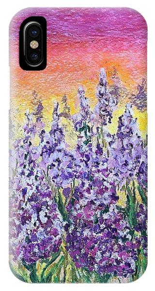 Delphiniums IPhone Case
