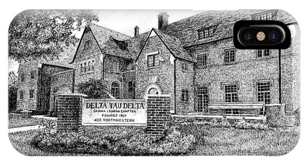 Purdue Boilermakers iPhone Case - Delta Tau Delta Fraternity House, Purdue University, West Lafayette by Stephanie Huber