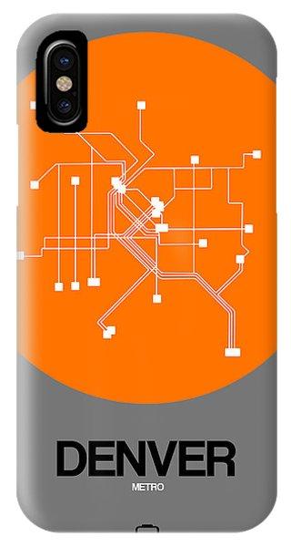 Trip iPhone Case - Denver Orange Subway Map by Naxart Studio