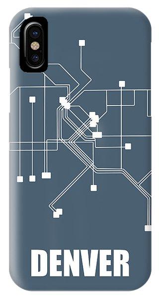 Rocky iPhone Case - Denver Subway Map by Naxart Studio