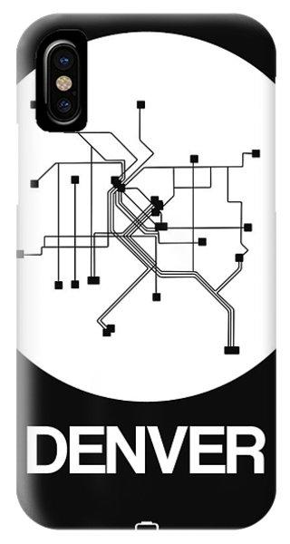 Trip iPhone Case - Denver White Subway Map by Naxart Studio