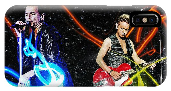 IPhone Case featuring the digital art Depeche Mode by Mark Baranowski