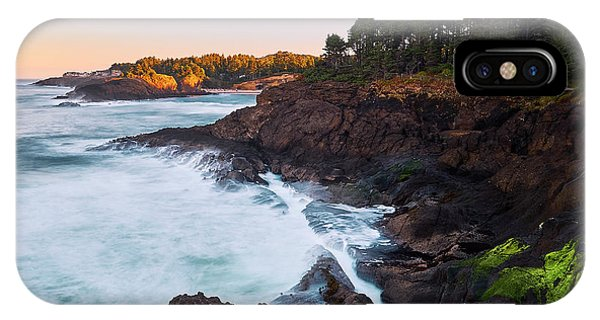 IPhone Case featuring the photograph Depoe Bay Sunrise by Whitney Goodey
