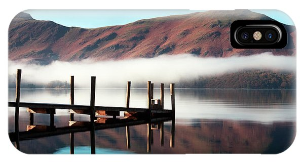 English Countryside iPhone Case - Derwentwater Landing Stage.  The by Atgimages