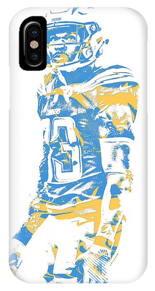 Phone Charger iPhone Case - Derwin James Los Angeles Chargers Pixel Art 2  by Joe Hamilton d272c1b5f