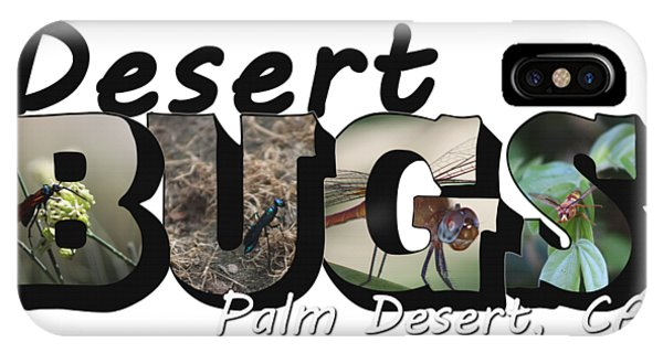 Desert Bugs Big Letter IPhone Case