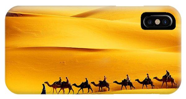Egyptian iPhone X Case - Desert Caravan by Mikadun
