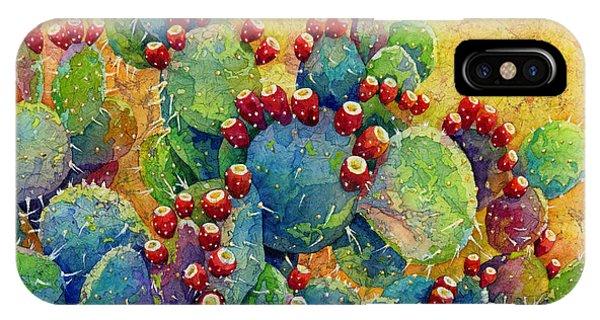 Pear iPhone Case - Desert Gems by Hailey E Herrera