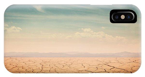 Heat iPhone Case - Desert Landscape Background Global by Elena Schweitzer
