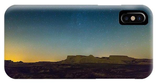 Sandstone iPhone Case - Desert Landscape Of Navarra In Night by Iakov Filimonov