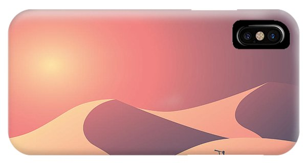 Heat iPhone Case - Desert Landscape Vector Background by Mjgraphics