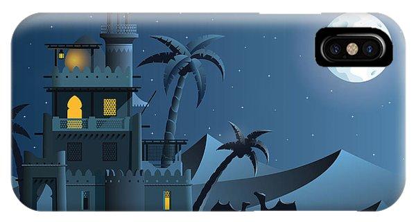 Egyptian iPhone X Case - Desert Oasis In The Night by Nikola Knezevic