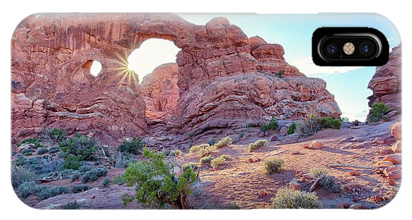 IPhone Case featuring the photograph Desert Sunset Arches National Park by Nathan Bush