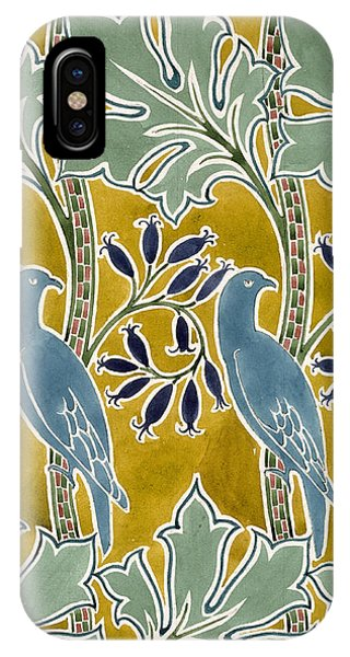 Mustard iPhone Case - Design For 'new Silk Cloth, May 1901  by Charles Francis Annesley Voysey