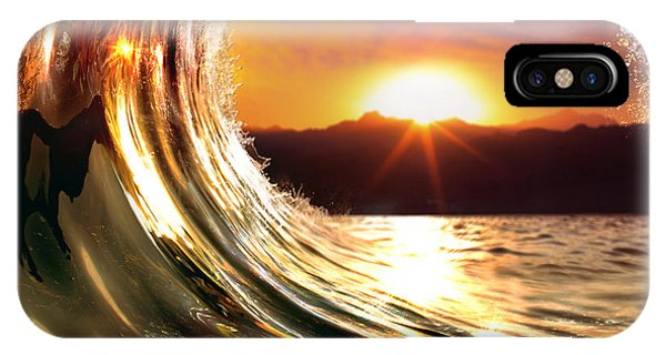Tidal Waves iPhone Case - Design Template With Underwater Part by Willyam Bradberry