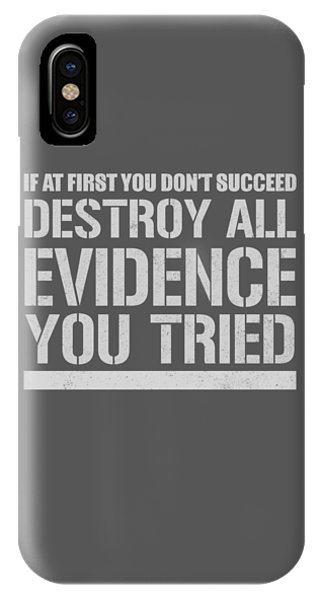 Destroy Evidence IPhone Case