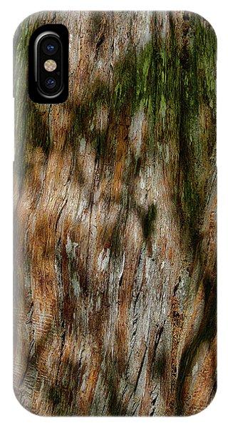 Detail Of Bark On Huge  Tree IPhone Case