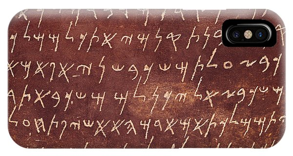Basalt iPhone Case - Detail Of The Inscription From The Sarcophagus Of Eshmunazar by Phoenician