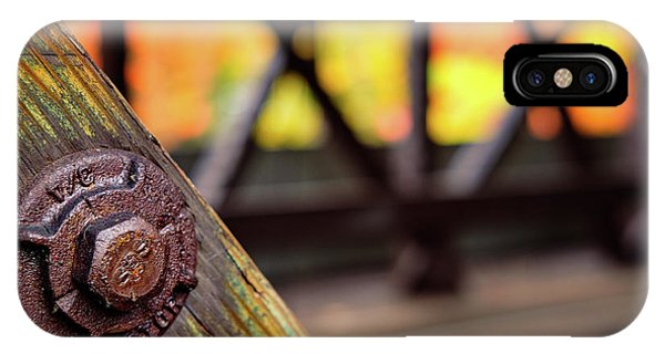 Details On A Covered Bridge IPhone Case