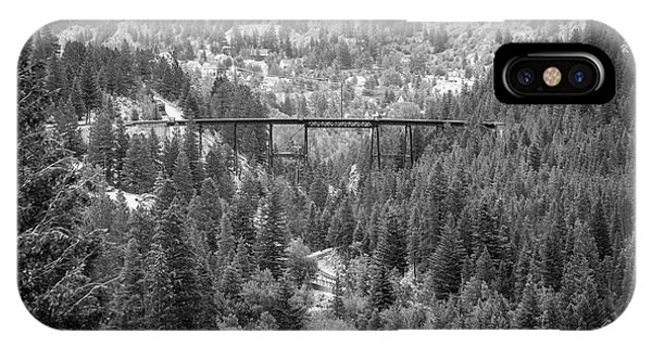 IPhone Case featuring the photograph Devils Gate In Black And White by Jon Burch Photography