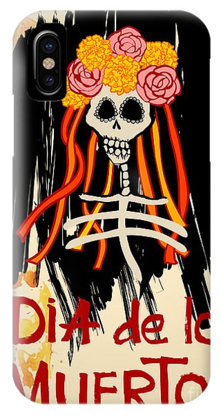 Culture iPhone Case - Dia De Los Muertos Day Of The Dead by Ajgul
