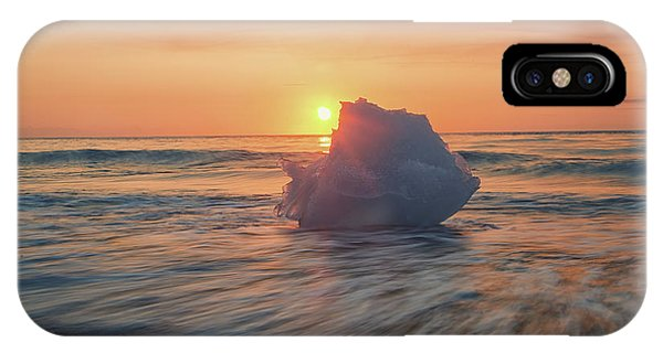 Diamond Beach Sunrise Iceland IPhone Case