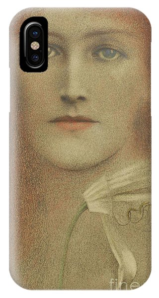 Pastel Pencil iPhone Case - Diffidence, 1893  by Fernand Khnopff