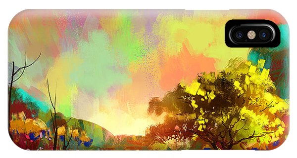 Peace iPhone Case - Digital Painting Of A Beautiful by Tithi Luadthong