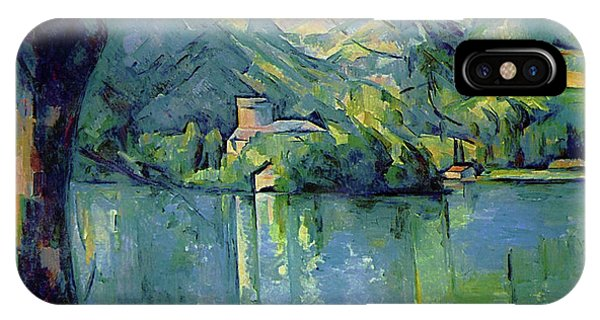 Avenue iPhone Case - Lake Annecy - Digital Remastered Edition by Paul Cezanne