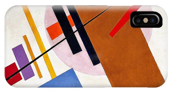Russian Impressionism iPhone Case - Digital Remastered Edition - Suprematism, No55 by Kazimir Severinovich Malevich