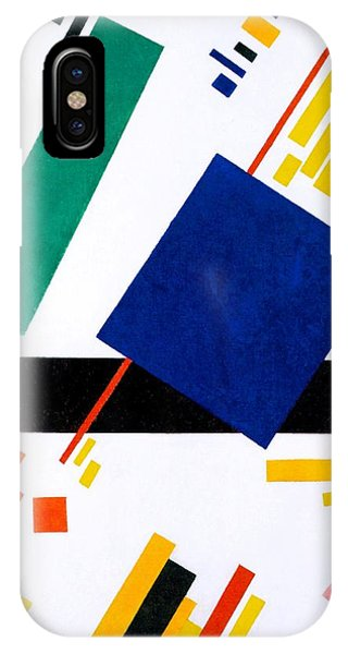 Russian Impressionism iPhone Case - Digital Remastered Edition - Suprematist Composition by Kazimir Severinovich Malevich