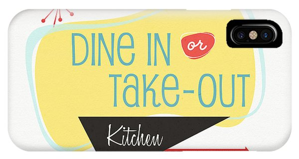 Kitchen iPhone Case - Dine In Kitchen - Art By Linda Woods by Linda Woods