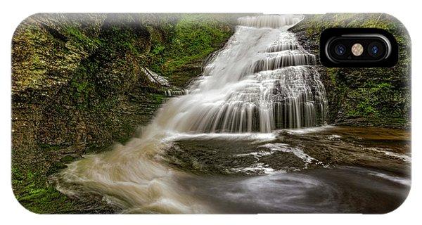 iPhone Case - Dingmans Waterfalls Dwg by Susan Candelario