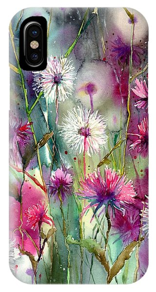 Perfume iPhone Case - Disco Thistles by Suzann Sines