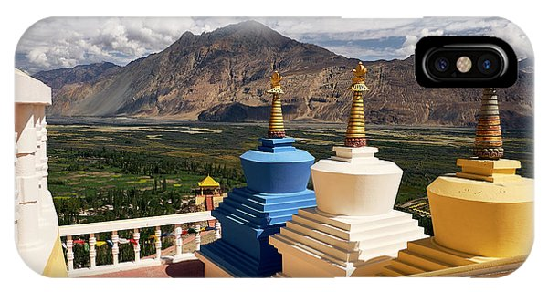 IPhone Case featuring the photograph Diskit Gompa by Whitney Goodey