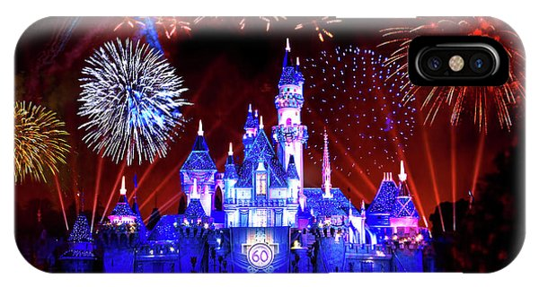 Andrew iPhone Case - Disneyland 60th Anniversary Fireworks by Mark Andrew Thomas