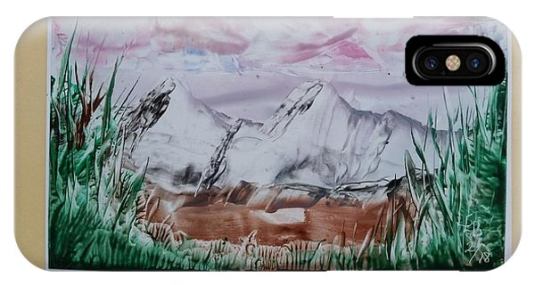 Distant Impressionistic Mountains IPhone Case