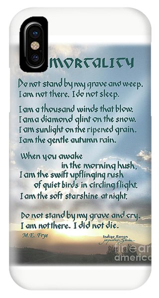 Do Not Stand At My Grave And Weep IPhone Case
