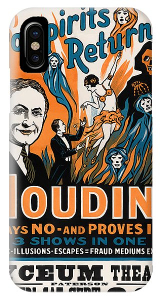 Illusion iPhone Case - Do Spirits Return? Houdini Says No - Vintage Magic Poster by War Is Hell Store