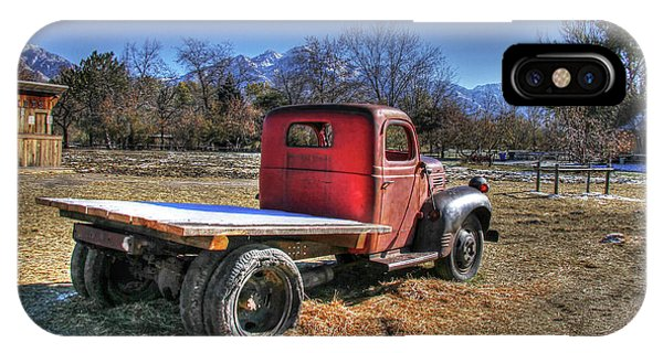 Fashion Plate iPhone Case - Dodge Flat Bed Truck On Farm by Nick Gray