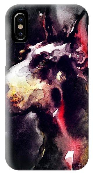 Small Dog iPhone Case - Dog  Watercolor Animal by Anna Ismagilova