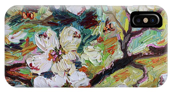 Dogwood Blossoms Oil Painting  IPhone Case